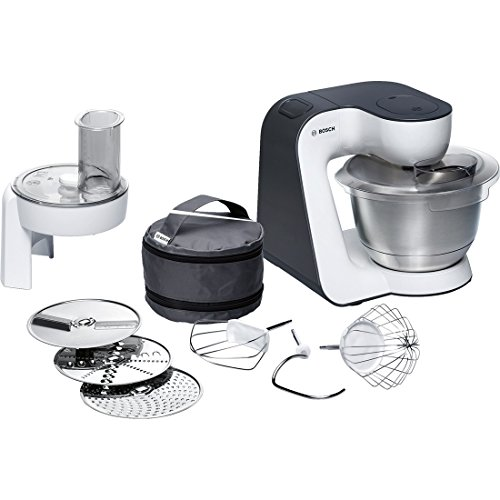 Bosch MUM52110 700W 3.9L Black,White food processor - Food Processors (3.9 L, Black, White, Stainless steel, 700 W)