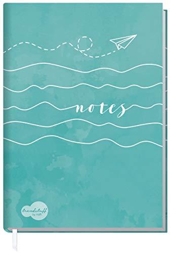 Notizbuch A5 liniert [Wellenlänge] von Trendstuff by Häfft | als Tagebuch, Bullet Journal, Ideenbuch, Schreibheft | stylish, robust, biegsam, abwischbares Cover