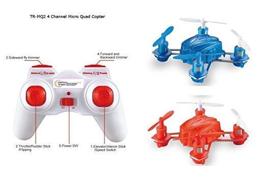 Top Race 4 Channel Micro Quad Copter TR-MQ2 (Colors Vary Red pr Blue)