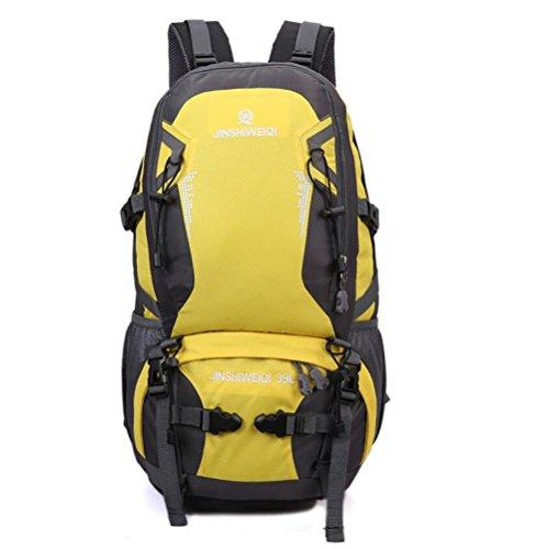 GAOHAILONG 40L Hommes Sac d'alpinisme en Plein air et Les Femmes Ultra-léger Sac à Dos de randonnée Sac à Dos Grande capacité, Yellow