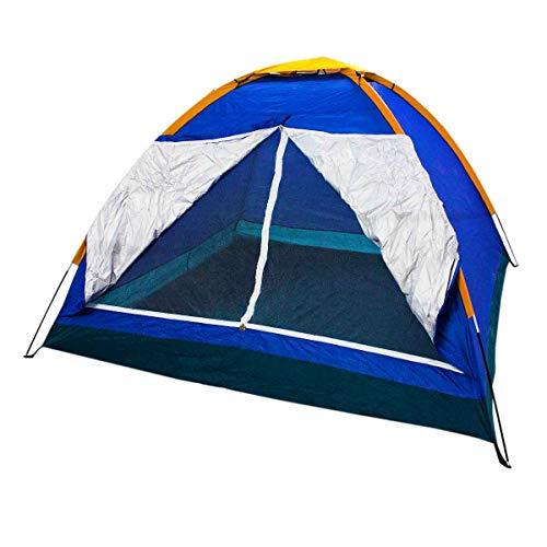 Barraca Camping 4 Pessoas Iglu Tenda Acampamento Bolsa Azul