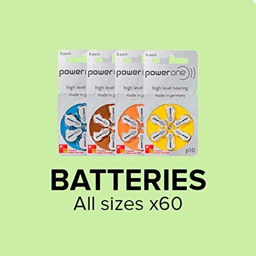 Varta Powerone P10 Mercury Free Hearing Aid Batteries Pack of 60
