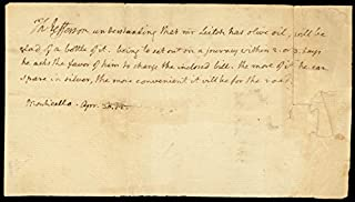 President Thomas Jefferson - Third Person Autograph Letter 04/30/1812