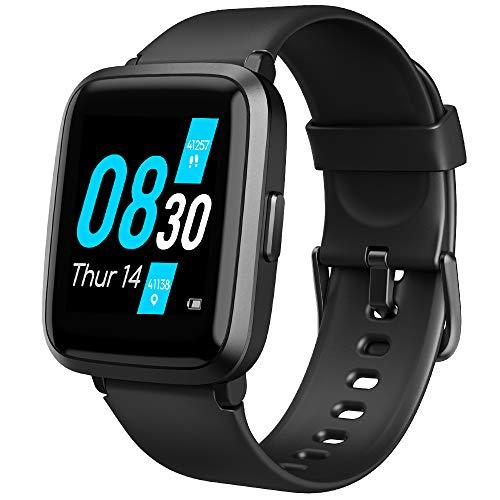 UMIDIGI UFit Smartwatch, 1.3 Zoll Touch-Farbdisplay wasserdichte Fitnessuhr mit Blutsauerstoff-Monitor(SpO2), Blutdruck Messgerät, Pulsuhr, Schlafmonitor, Schrittzähler, Stoppuhr für Damen und Herren