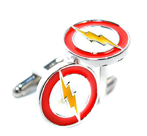 Boutons de manchette – Le Flash d'éclairage Flash inspiré Superhero – Accessoires pour homme pour hommes