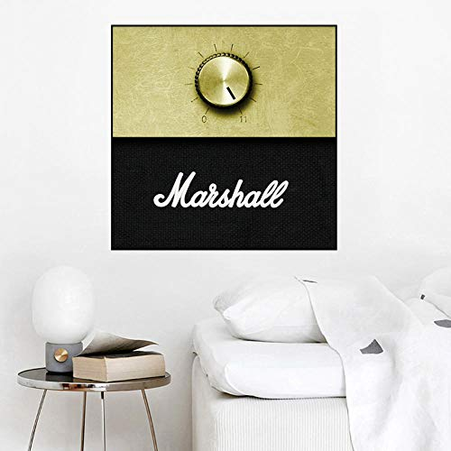 WADPJ versterker volumeregelaar muziek poster canvasdruk muurkunst afbeelding woonkamer schilderij decor-60x60cmx1 stuks geen lijst