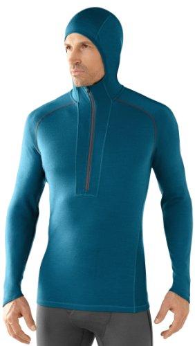 Smartwool Pull léger à Capuche pour Homme Bleu Turquoise s