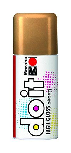 Marabu 21073006484 - Do it High Gloss hochglanz gold, Colorspray auf Kunstharzbasis, hochglänzende Chromoptik, sehr schnell trocknend, sehr gute Deckkraft, lichtecht, 150 ml Sprühdose