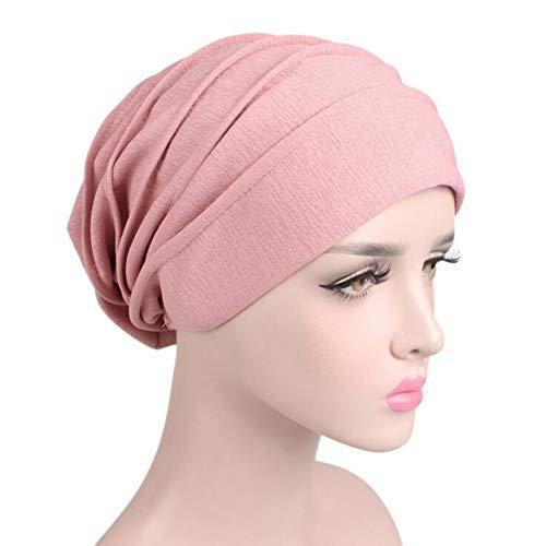 Pañuelo la Cabeza Turbante Mujer Apagado Tapa para quimio, pérdida de Pelo, Sombrero de quimioterapia del Sombrero del Turbante elástico del Hairband de Las Mujeres (B)