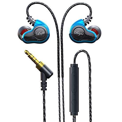 In-Ear Bassi Auricolari,con Microfono,Audio di Alta qualità,cancellazione del rumore,Headset Stereo 3.5 mm per iPhone,Samsung,LG,Xiaomi,Sony, Huawei etc