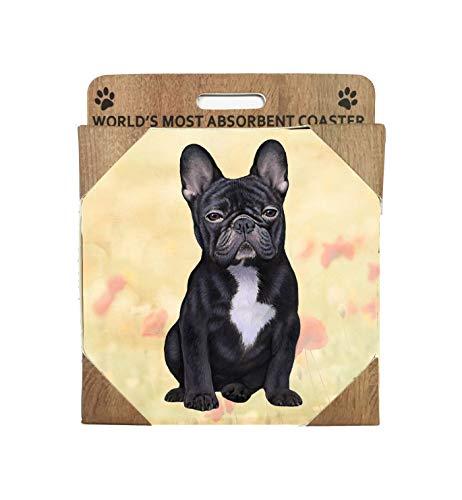 E&S Imports Ceramic Coaster - French Bulldog (1)