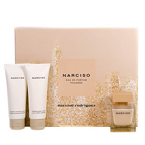 Narciso Rodriguez Poudrée femme/woman Set (Eau de Parfum (50 ml), Bodylotion (50 ml), Duschgel (50 ml))