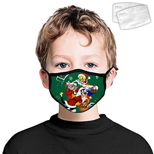 835 Llama Natale antipolvere fronte poliestere moda decorazione lavabile riutilizzabile Wrap Side 2 PZ filtri per bambini Tw-e-ety uccello Natale Taglia Unica