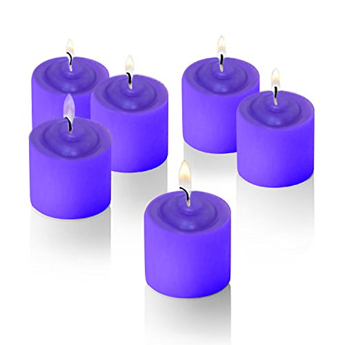 12 Pack Lavendar Scented Candle with Flower Design on Top, Set of 12, Valentines candle, Great for Partis, Fundraising Events, Weddings and Every Day Use.