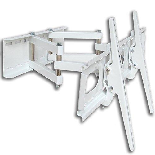 Fair Style TV Supporto da parete orientabile allungabile +/-15° adatto per TV e Monitor diagonale fino a 140cm (55pollici) con VESA standard in mm: 100X 100| 200X 100| 200X 200| 300X 300| 300X 400| 400X 300| 400X 400| 500X 400| 600X 400, distanza dalla parete Max 470mm, min 120mm, colore bianco, universalmente adatto per tutti i Monitor e TV di marca, in ottima Fair Style di qualità, Model 6367
