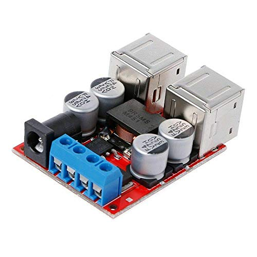 JVJ autotelefoon oplader 8-35V naar 5V 8A adapter, snelle DC-DC spanning achterwaartse stroomvoorzieningsmodule auto 12V 24V stopcontact USB-telefoon-adapter-oplader
