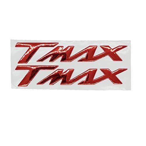 ONE BY CAMAMOTO CP coppia ADESIVI STICKERS in RESINA 3D scritta T-MAX di colore ROSSO compatibile con YAMAHA T-MAX 500 530