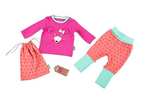 Sigikid Baby-Mädchen Pyjama, Zweiteiliger Schlafanzug, Rosa (Shocking Pink 682), 74
