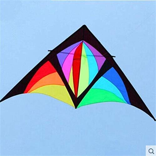 Forte e Robusto Aquilone, Bambini Kite Belle Aquiloni for Kids Facile da pilotare for la Spiaggia Outdoor Windsock Colorful Kite Scheletro Duro (Colore: Colorato) (Color : 210t Polyester Cloth)