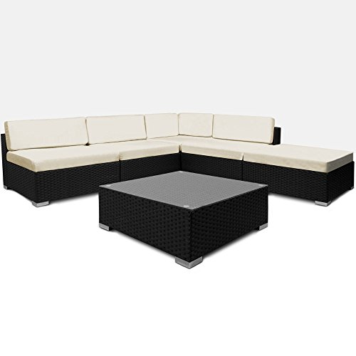 LD polyrotan loungeset zitgroep zitmeubelen rotan ligstoel tuin