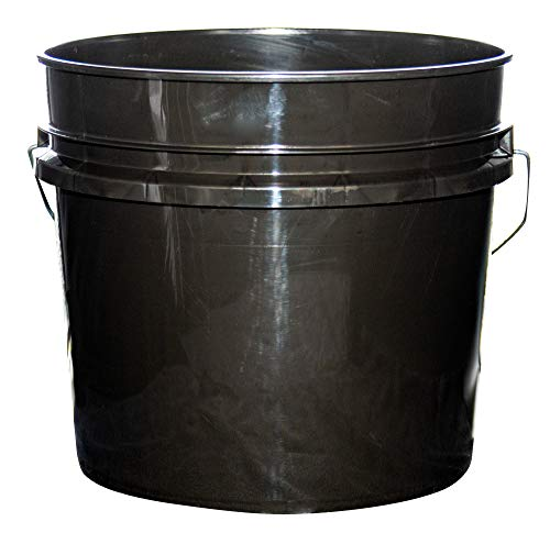 Argee 3.5 Gallon Heavy Duty Bucket, Black (Pack of 10)