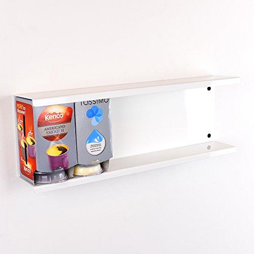 Tassimo 6Box/48T-Disc Halter Wandhalterung Pod Aufbewahrung Spender stehen–weiß
