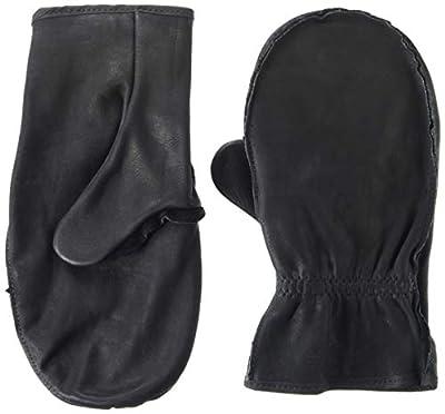 American Made Black Cowhide Leather Chopper Mitt Glove