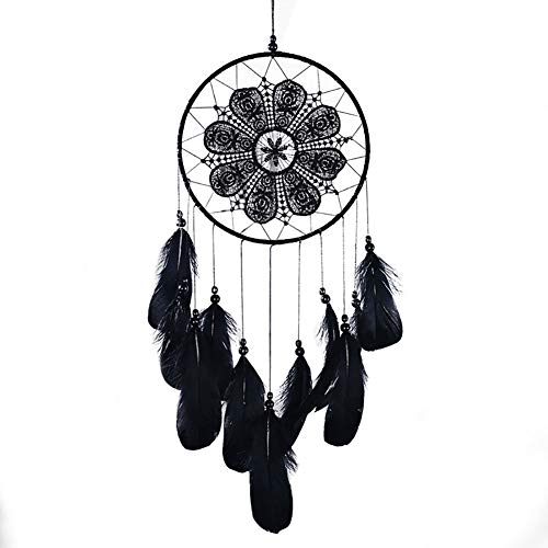 Find Discount Cestor Black Wind Chime,Bohemian Ethical Handmade Feathers Dream catcher Wall Hanging ...