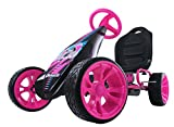 Hauck Sirocco - Racing Go Kart | Pedal Car | Low profile rubber tires | Pedal power auto-clutch free-ride | Adjustable seat  - Pink