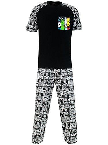 Ropa Hombre de Algodon Marvel Pijama Hombre Verano Regalos Para Hombre y Chico Adolescente Conjunto de 2 Piezas Con Estampado del Escudo Capitan America