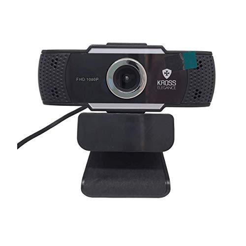 Webcam 1080P Foco Manual KE-WBM1080P, Kross Elegance, Preto