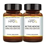 HPD Rx Active Hexose Correlated Compound, 1100mg per Serving Shiitake Mushroom Supplement, Natural Immune System Support for Men and Women, 90 Veggie Capsules {2 Pack}
