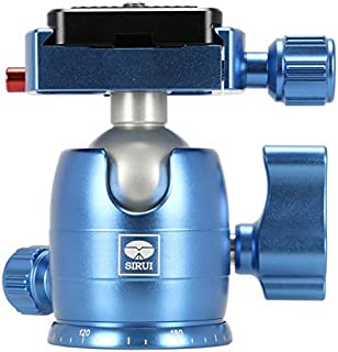 Sirui B-00 Aluminum Mini Ball Head with TY-C10 Plate, 11 lb Capacity, Blue