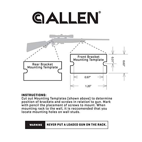 Allen Company Brass Shotgun & Rifle Wall Mount Gun Hanger Hooks Kit - Fits Most Shotguns & Rifles, (1 Pair)