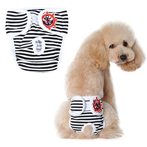 WESEEDOO Windeln Für Hunde Hundewindeln Hunde-Inkontinenzhose Einstellbare Hundewindeln Hundeauflagen Windeln Medium Size Pants Hygienehosen Für Hunde Black,s