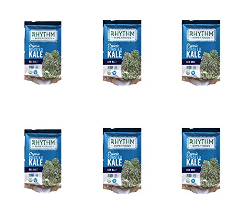 Rhythm Superfoods Organic Roasted Kale with Sea Salt 6-0.35 OZ Packs Net 2.1 OZ