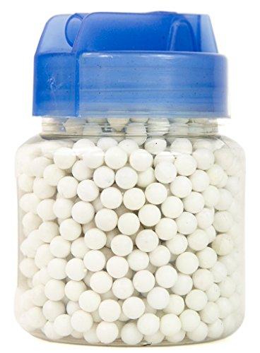 NICK and BEN Softair-Kugeln 1000 Stück 6 mm Qualitäts Munition 0,13 g Airsoft BB Plastik weiß poliert in praktischer Kunststoff Flasche