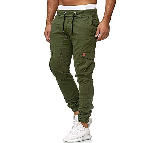 Beonzale Sommer Herren Jogginghose Hose Lässige Elastische Casual Jogginghose Sport Solide Baggy Pockets Hose Baumwolle Kurze Freizeithose