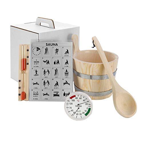 eliga Wellness & Care Standard - Juego de accesorios para sauna (5 piezas)