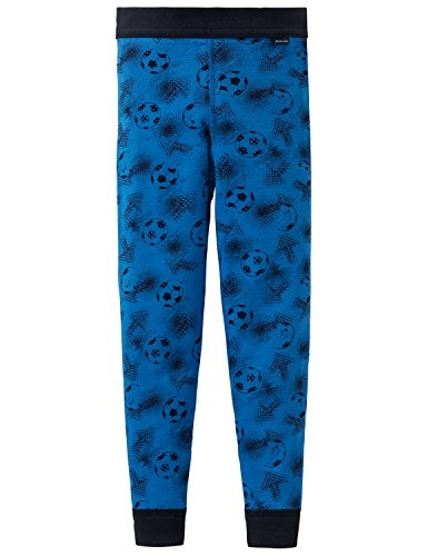 Schiesser Jungen Unterhose Lang Slip, Blau (Blau 80), 92