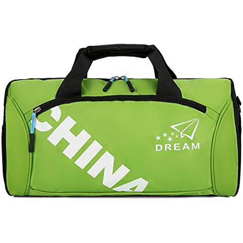 MGYJ Bolsa de Viaje Bolsa de Deporte Big for Camping Canvas Overnight Duffle Bag Women Overnight Duffle Bolsa plegada Ideal para jóvenes y Adultos (Color : Green, Size : One Size)