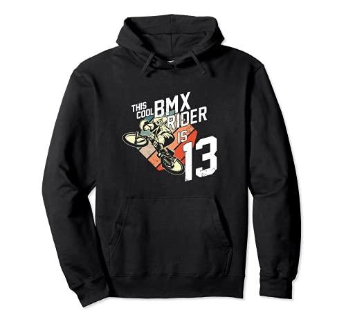 Regalo di compleanno per 13 anni BMX Fan ragazzi uomini Felpa con Cappuccio