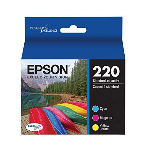 Epson T220520-S DURABrite Ultra Color Combo Pack Standard Capacity Cartridge Ink (Epson Expression XP-420,WF-2630, WF-2650, WF-2660, WF-2750, WF-2760)