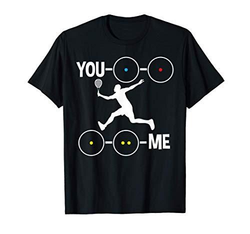 Squashspieler mit Squash Schläger und Squashbällen   Squash T-Shirt