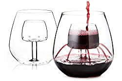 Chevalier Collection Stemless Aerating Wine Glasses (Set of 2)