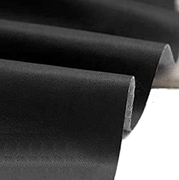 Mybecca Faux Leather Leatherette Material Heavy Feel PVC Vinyl Upholstery Fabric Black 54  Wide