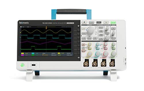 Tektronix TBS2104 Osciloscopio de almacenamiento digital, ancho de banda de 100 MHz, frecuencia de muestreo 1GS/S, 4 canales, longitud de grabación de 20 m