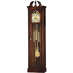 Howard Miller Chateau Floor Clock 610-520 – Windsor Cherry Vertical Home Decor with Chain-Driven, Single-Chime Movement & Chime Silence Option