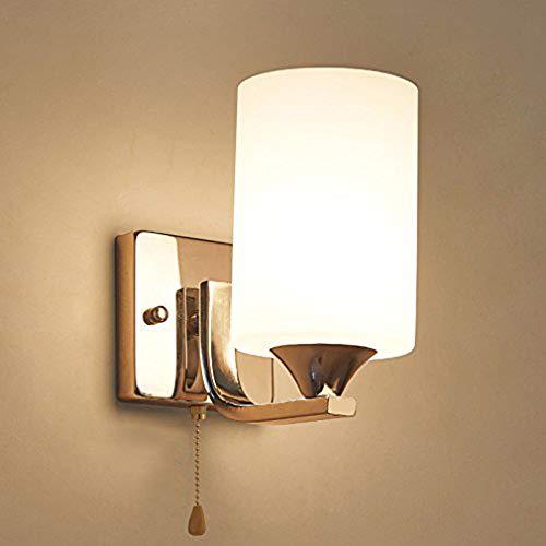 FUSKANG LED wandlamp met een trekschakelaar schietkabel bedlampje slaapkamer modern minimalistisch woonkamer trappen hal lampen en lampen
