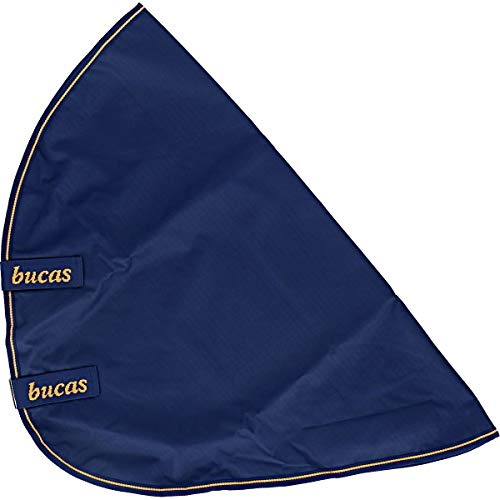Bucas Irish Turnout Combi Neck, Halsteil, Navy/gold, Grösse L (Rückenlänge 145 cm)